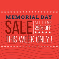 Memorial day promotion