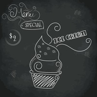 Menu special ice cream design