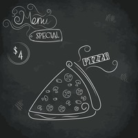 Menu special pizza design