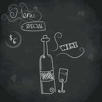 Menu special wine design