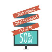 Monitor with cyber monday sale design