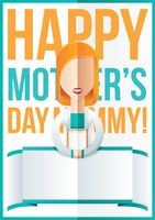 Mothers day design with doctor