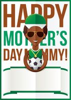 Mothers day design with soccer ball