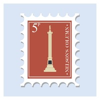 Nelson's column postage stamp