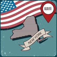 New york map label