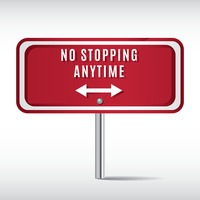 No stopping anytime sign