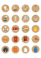 Oil gas icon set