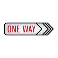 One way signboard