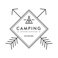 Outdoor camping adventure label