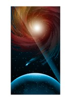 Outer space wallpaper for mobile phone
