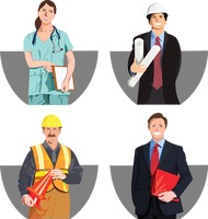 People from various professions