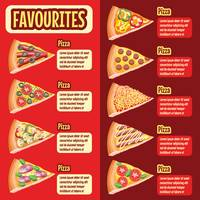 Pizza favourites menu design