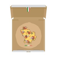 Pizza in shape of basilicata map