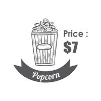 Popcorn menu title with price