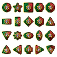 Portugal flag icon set