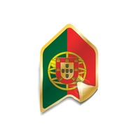 Portugal flag sticker