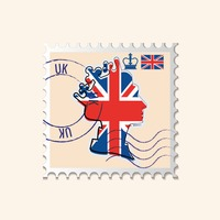 Queens crown postage stamp