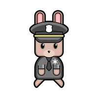 Rabbit policeman