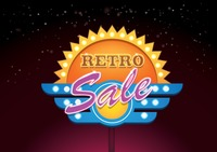 Retro sale signboard