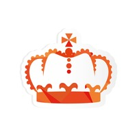 Royal crown sticker