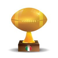 Rugby ball trophy