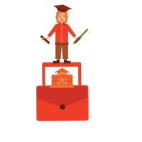 School education and graduation concept