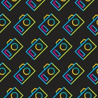 Seamless camera symbol pattern