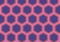 Seamless hexagonal cells textured