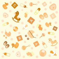 Seamless pattern of baby