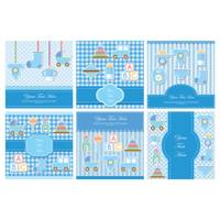 Set of baby items card