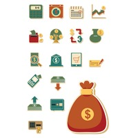 Set of banking icons