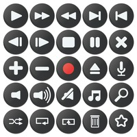 Set of button icons