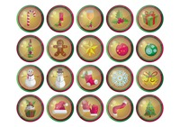 Set of christmas web buttons
