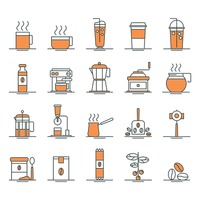 Popular : Set of coffee icons