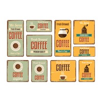 Set of coffee signboards