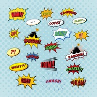 Set of comic bubbles