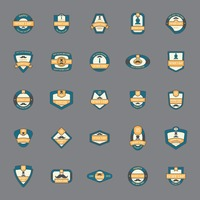 Set of father's day icons