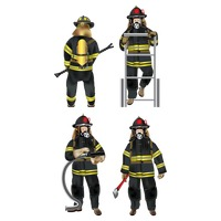 Set of firefighter icons