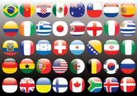 Set of flag icons