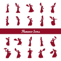 Set of flamenco dancers