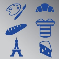 Set of france general icons