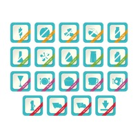 Set of free label icons