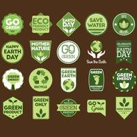 Set of go green labels
