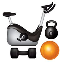 Set of gym equipment