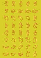 Set of hands icon