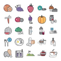 Set of health icons