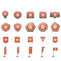 Set of hong kong icons