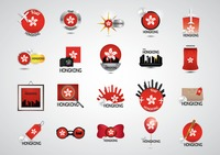 Set of hong kong tourism icons