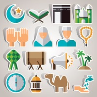 Set of islamic icons
