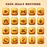 Set of jelly buttons